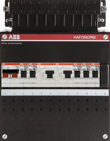 Meterkast ABB 5 groepen 1 fase (klein)