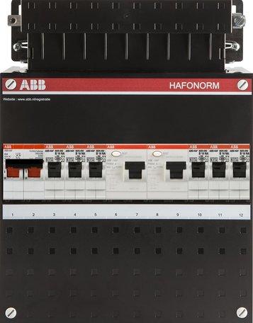 Meterkast ABB 6 groepen 1 fase (klein)