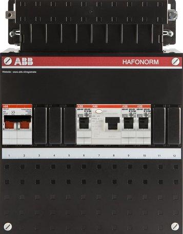 Meterkast ABB 3 groepen 1 fase (klein)