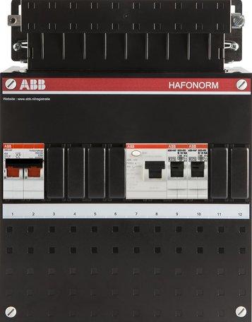 Meterkast ABB 2 groepen 1 fase (klein)