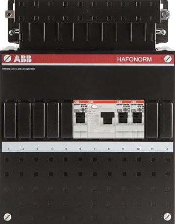 Meterkast ABB 1F 3 groepen 1 aardlek (220x280-ZH)