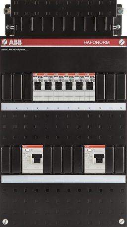 Meterkast ABB 1-fase 6 groepen (220x390-ZH)