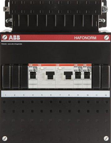 Meterkast ABB 1-fase 3 groepen (220x280-ZH)