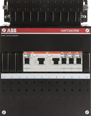 Meterkast ABB 1-fase 4 groepen (220x280-ZH)
