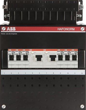 Meterkast ABB 1-fase 6 groepen (220x280-ZH)