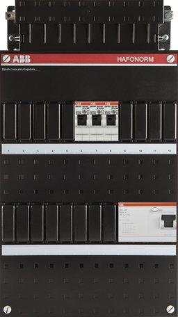 Meterkast ABB 3-fase 3 groepen (220x390-ZH)