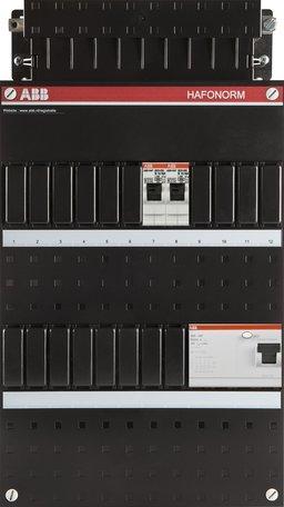 Meterkast ABB 3-fase 2 groepen (220x390-ZH)