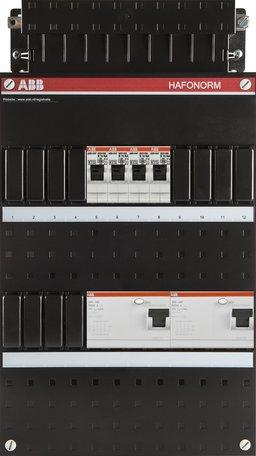 Meterkast ABB 3-fase 4 groepen (220x390-ZH)