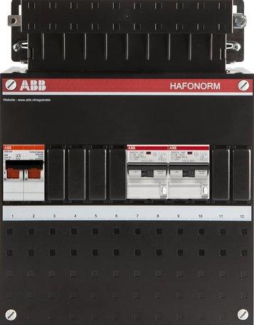 ABB 1 fase groepenkast 2 aardlekautomaten (220x280)