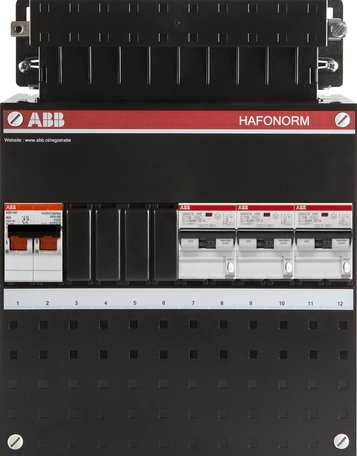 ABB 1 fase groepenkast 3 aardlekautomaten (220x280)
