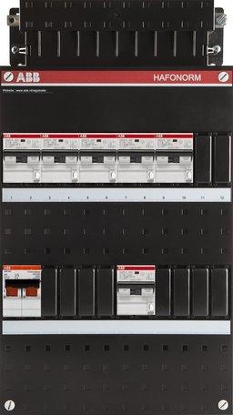 ABB 1 fase groepenkast 6 aardlekautomaten