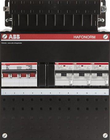ABB 3 fase groepenkast 3 aardlekautomaten (220x280)