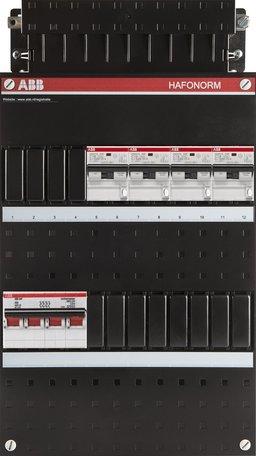 ABB 3 fase groepenkast 4 aardlekautomaten