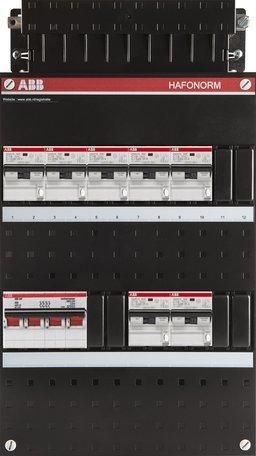 ABB 3 fase groepenkast 7 aardlekautomaten