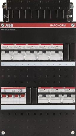 ABB 3 fase groepenkast 8 aardlekautomaten