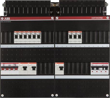 Groepenkast ABB 3F 9 groepen + aardlekautomaat 4P