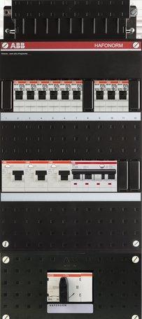 Groepenkast ABB 9 groepen + aardlekautomaat 4P + HS