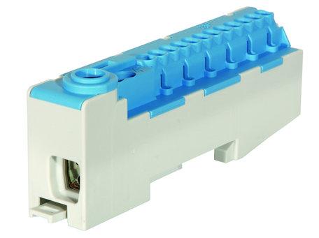 Verdeelblok blauw 16mm 12x 2.5mm