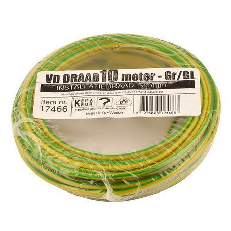 VD draad groen/geel 2,5mm (10 meter)