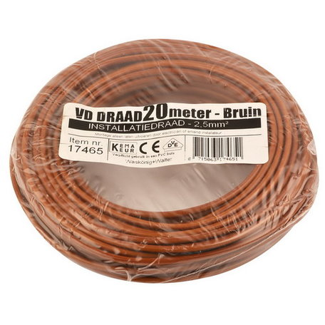 VD draad bruin 2,5mm (20 meter)