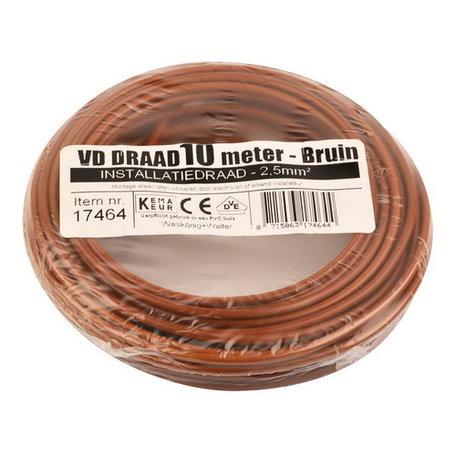 VD draad bruin 2,5mm (10 meter)
