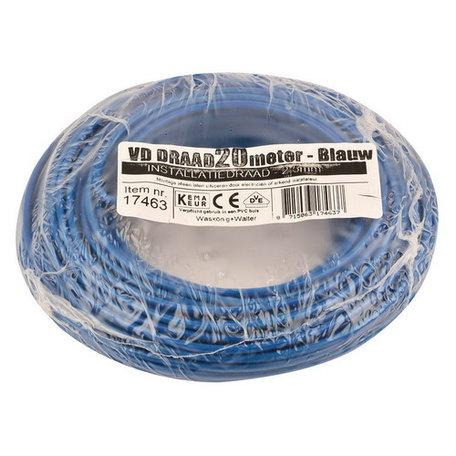 VD draad blauw 2,5mm (20 meter)