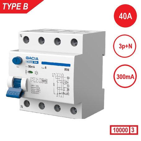 GACIA aardlekschakelaar 300mA Type B 4P