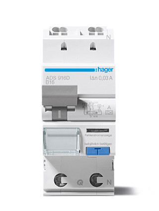 Hager ADA925G aardlekautomaat 2P B25A 30mA