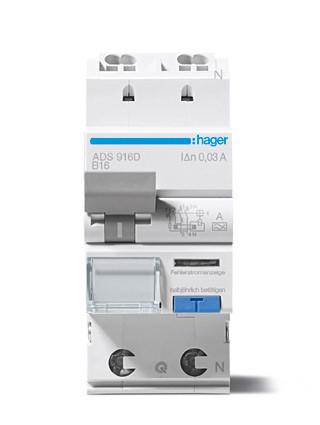 Hager ADA970G aardlekautomaat 2P C20A 30mA