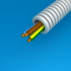 Flexbuis met draad 3x 2.5mm 16mm (100 meter)