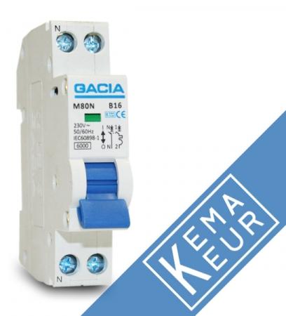 GACIA installatieautomaat 1P+N B20A