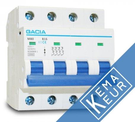 GACIA installatieautomaat 3P+N C16A (traag)