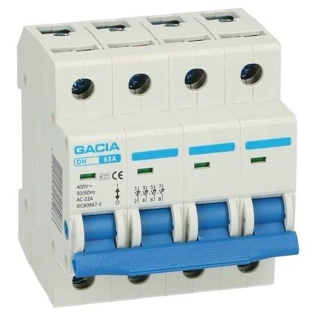 GACIA hoofdschakelaar 4-polig 63A