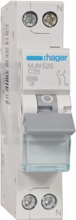 Hager installatieautomaat MJN525 1P+N C25A