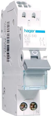 Hager installatieautomaat MJS510 C10A (QuickConnect)