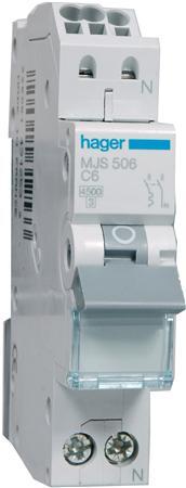 Hager installatieautomaat MJS506 C6A (QuickConnect)