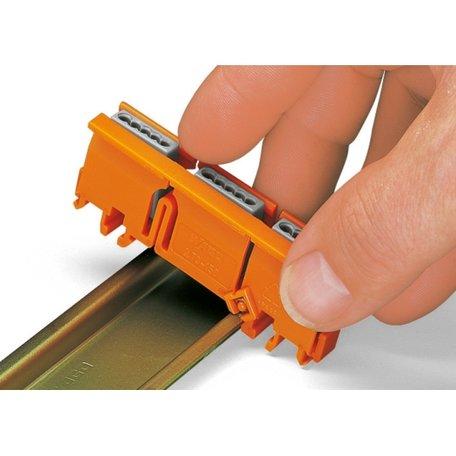 WAGO bevestigingsadapter voor lasklemmen