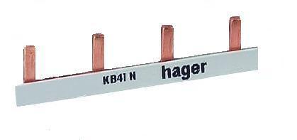 Hager KB41N doorverbindingskam vlak 4-pins