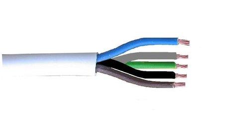 VMvL kabel wit 5x1,5mm soepel (per meter)