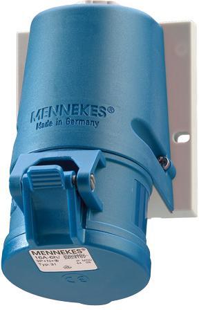 Mennekes CEE wandcontactdoos 230V/16A/3P (twincontact)