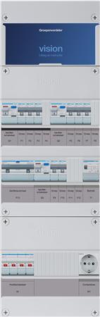 Groepenkast Hager VKG323M-BTW 8 groepen + alamat 4P