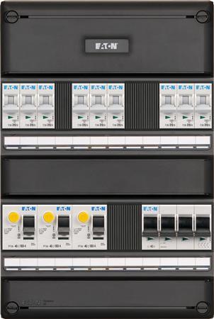 Meterkast Eaton 9 groepen 3-fase