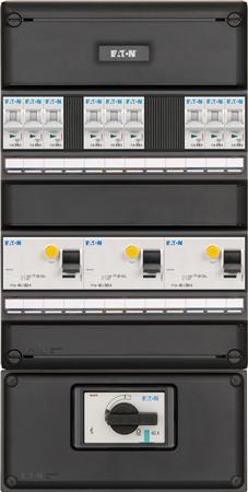 Meterkast Eaton 9 groepen 3-fase + HS
