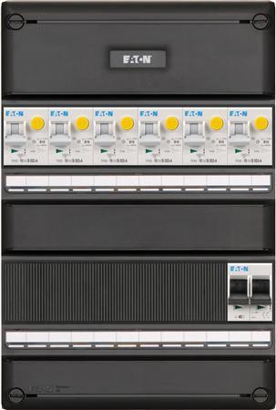 Eaton 1 fase groepenkast 6 aardlekautomaten + HS