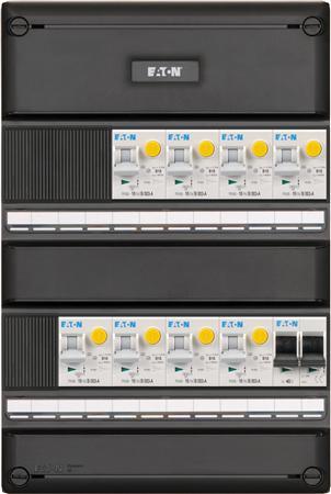 Eaton 1 fase groepenkast 8 aardlekautomaten + HS