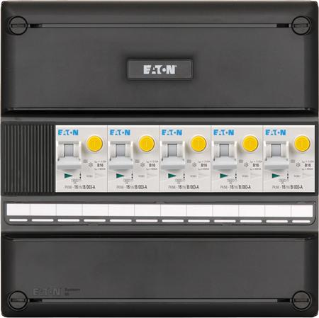 Eaton 3 fase groepenkast 5 aardlekautomaten