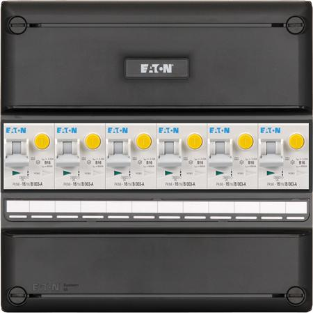 Eaton 3 fase groepenkast 6 aardlekautomaten
