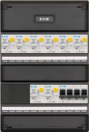 Eaton 3 fase groepenkast 8 aardlekautomaten + HS