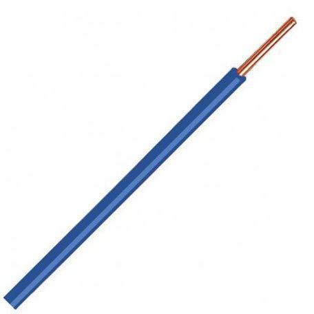 VD draad blauw 6mm massief p/m