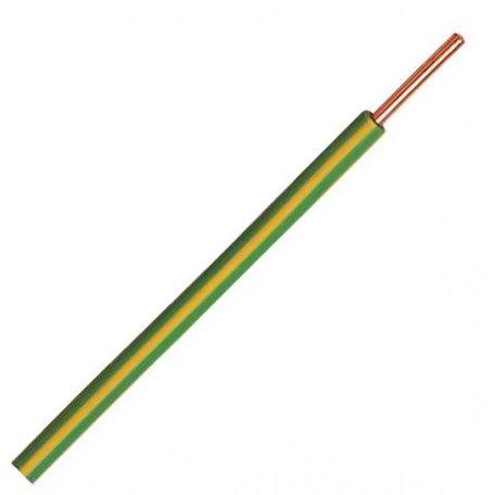 VD draad groen/geel 6mm massief p/m
